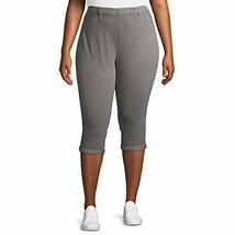 Women's Plus Size Pull On Midrise Fitted Denium Capri Jeggings  ( Gray) - $23.85