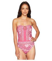 Lauren Ralph Lauren Women's Aegean Paisley Bandeau One-Piece (Pink, 16) - $109.90