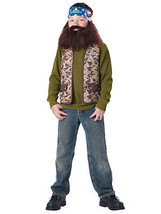 NEW Willie Duck Dynasty Costume Boys Size Medium 8 Halloween Vest Beard Bandana - $14.46