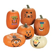 Foam Pumpkin Halloween Decorations Craft Kit Makes 12 Pumpkins In Variou... - $11.21