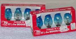 2 Pkgs Vintage C-7 Cool-Lite Christmas Light Bulbs Taiwan - $9.99