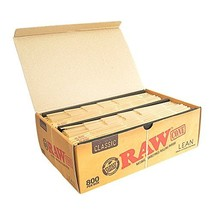 RAW Classic Natural Unrefined Pre-Rolled 800 Cone Box - Lean Size 110mm
