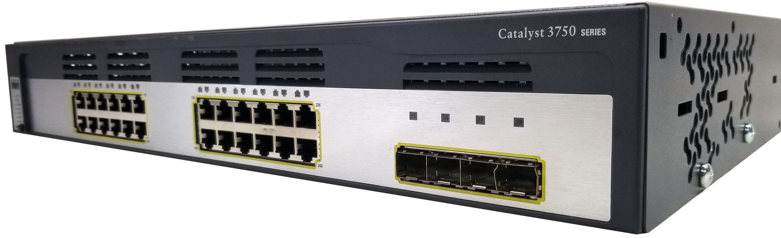 Cisco Catalyst 3750G 24-TS-S 24 Port Gigabit Switch Bin: 6