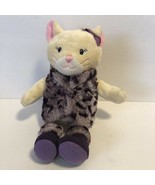 """Mary Meyers Plush Cat with Animal Print Vest & Boots 11.5"""" tall Stuffed Toy - $14.89"""