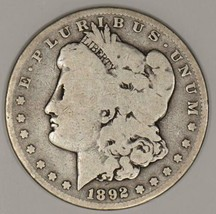 1892-S Morgan Dollar; Nice Original G-VG - $49.49
