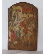 Vintage Dibble Studio Harry wall hanging Gay Gaballero wood folklor deco - $30.00