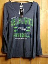 Nfl Team Apparel Seattle Seahawks Long Sleeve Shirt Womens Size Xl New Nwt - $35.63