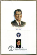 RONALD REAGAN STAMPS AND ENVELOPES FIRST DAY ISSUE FEB 5, 2005 SIMI VALLEY - $27.92