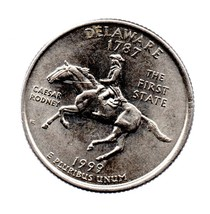 1999 D Delaware State Washington Quarter - Uncirculated Near Brillant - $1.25