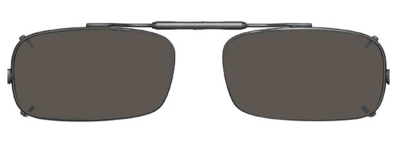Visionaries Polarized Clip on Sunglasses - True Rec - Gun Frame - 52 x 29 Eye