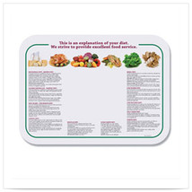 Nutrition 13 5/8 x 18 3/4 Healthcare Traymats/Case of 1000 - $196.21