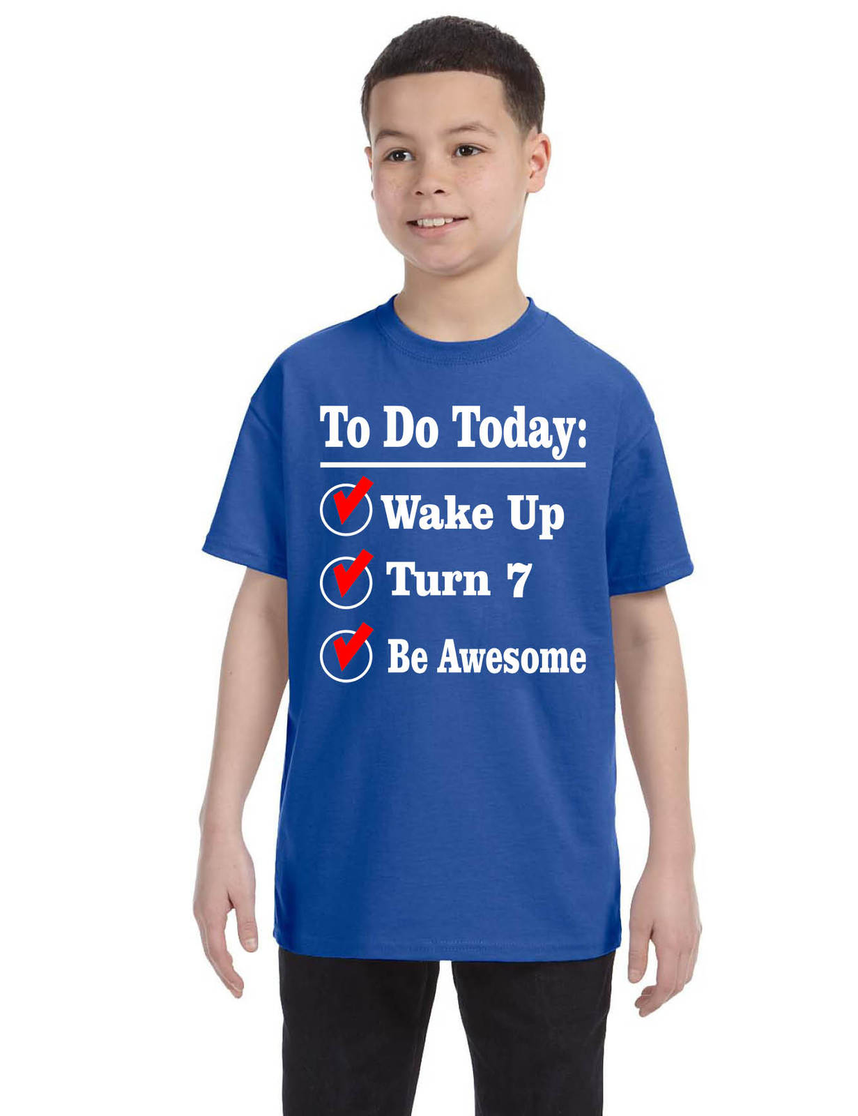 Kids Birthday T Shirt Turn 7 Seven Year Old And 24 Similar Items Royal