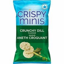 2x Quaker Crispy Minis Crunchy Dill Rice Chips 100g/3.52oz EACH Canada FRESH! - $15.79
