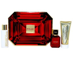 Michael Kors Sexy Ruby 3 Piece Gift Set Eau De Parfum Spray 50ML NIB-5NP5-Y7 - $98.51