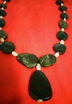 Necklace, Natural Healing beaded Jasper Greens Blacks Natural Stone  Boho  - $22.77