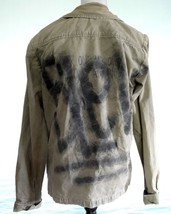 VANS JOEL TUDOR COLLECTION Grafitti Military Jacket Green Mens Customized - $64.35