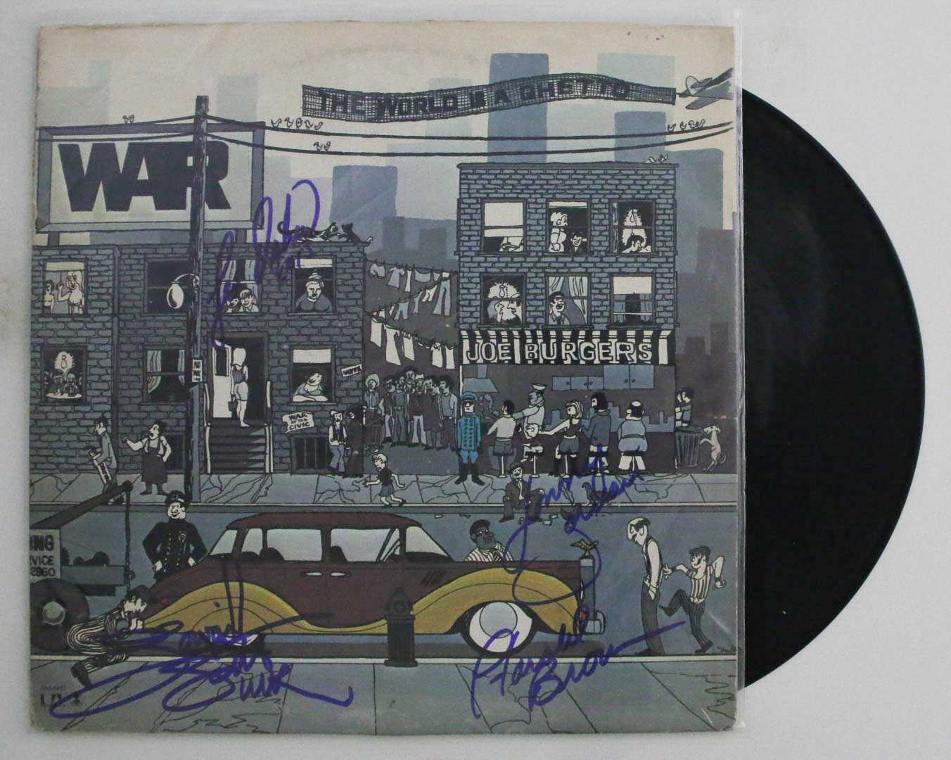"Primary image for WAR Band Signed Autographed ""The World is a Ghetto"" Record Album"