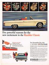 Vintage 1965 Magazine Ad Rambler Classic Sensible Spectaculars / Cue Too... - $5.93