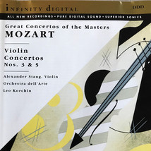 MOZART - VIOLIN CONCERTOS 3 and 5 - Gently Used CD - FREE SHIP  - $9.99