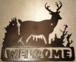 Deer Welcome Sign Metal Wall Art - $26.00+