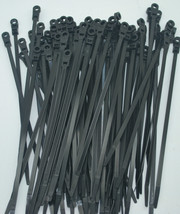 """1000 BLACK MOUNTING HOLE CABLE TIE ZIP WRAPS 7"""" SATELLITE/CABLE PERFECT ... - $44.05"""