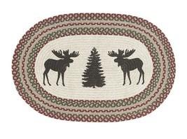 RuffHewn Herringbone Moose Tree Christmas Oval Country Cabin Accent Rug ... - $29.99