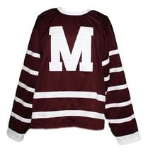Custom # Montreal Maroons Retro Hockey Jersey New Maroon Any Size image 4