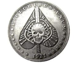 Hobo Nickel Morgan Dollar Skull Poker Spade Biker Punk Rock Nickle US Coin  - $10.44