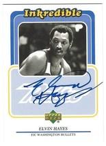 "1999 Upper Deck Elvin Hayes ""Inkredible"" Autographed Card F/C Washington... - $18.98"
