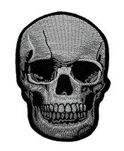 Realistic Skull Dead Biker Horror Goth Punk Emo Rock DIY Applique Embroi... - $3.93