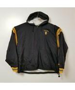 Champion Idaho Vandals 1/4 Zip Windbreaker Jacket Coat XXL 2XL Black Yellow - $32.68
