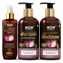 WOW Skin Science Onion Oil Ultimate Hair Care Kit Shampoo Conditioner & ... - $40.87