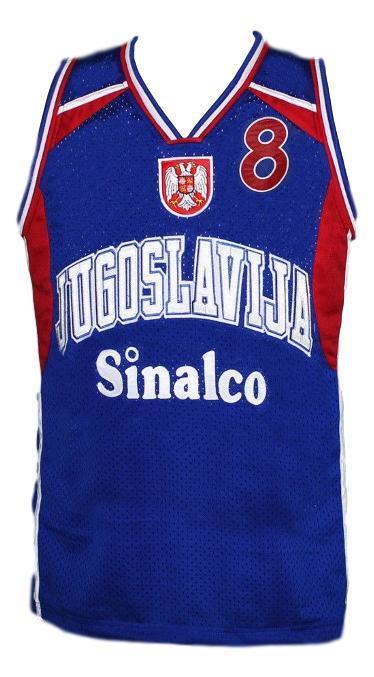 Stojakovic jugoslavija yugoslavia basketball jersey blue   1