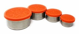 Metal Stainless Steel Food Storage Containers with Silicone Lids, Set of... - $24.95