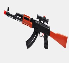 Kids Toy Gun 3 Pcs Soft Bullet AK 47 400 Pcs Water Absorb Bullet Pistol Gun - $28.70