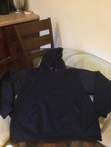 NWOT Men's Jerzees Navy Blue Blank Hoodie Sweatshirt Medium New Without Tags - $24.74