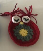 Handmade Crochet Owl Coaster(S) doll 10cm H - $9.60