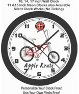 SCHWINN APPLE KRATE STINGRAY BICYCLE WALL CLOCK-FREE USA SHIP! - $28.70