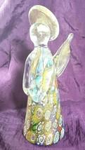 "Vintage Authentic MURANO Gold-Infused Glass Millefiori Angel Figurine 6"" - $69.99"