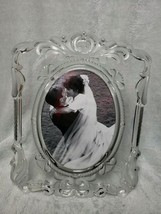 Mikasa Princess 5x7 Lead Crystal Picture Photo Frame Frosted Etched Flor... - $28.01