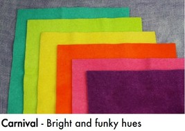 Carnival Wdw Wool Bundle - Show Special Only 8x8 Squares Weeks Dye Works - $30.00