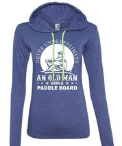 Never Underestimate An Old Man With A Paddle Board T Shirt, Sport T Shirt (Anvil - $37.99+