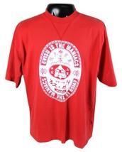 EVISU JEANS T-Shirt Maniacs Red 2XL Genes BAPE Street Japanese Buddah Hi... - $28.04