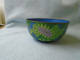 Ref 001 Old Chinese Cloisonne  Bowl Floral Pattern - $8.27