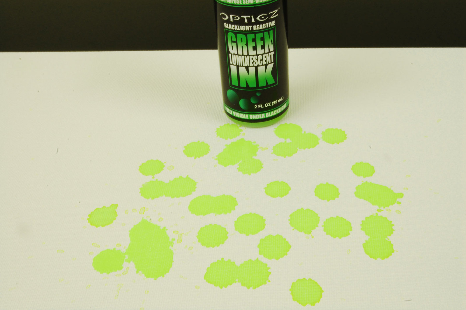 2oz Opticz Daytime Visible Green Luminescent UV Blacklight Reactive Ink