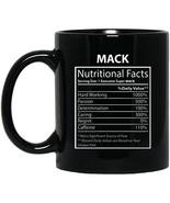 Text Custom Mug for Men, Women - Mack Nutritional Facts - Novelty Gift f... - $21.73