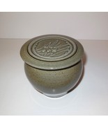 Parrot Ranch Pottery California Bowl w Lid Green French Butter Dish (1997)  - $30.00