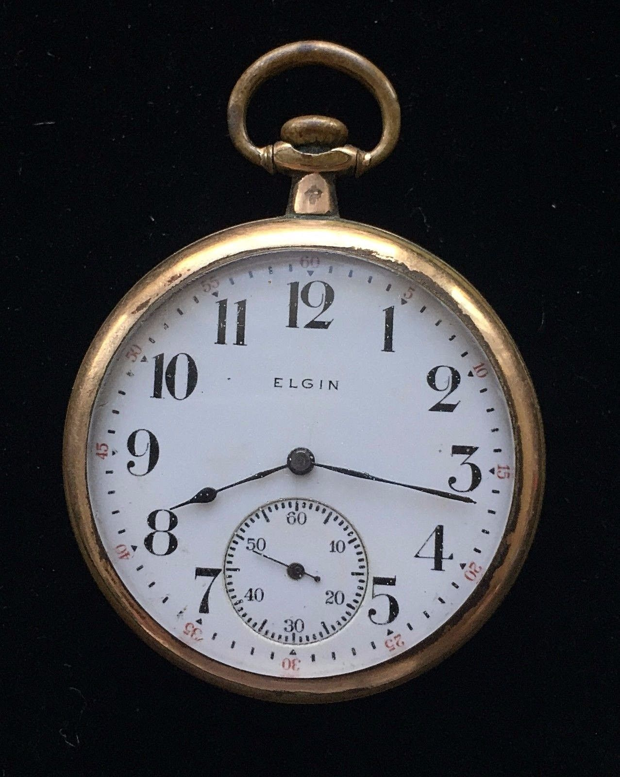 Primary image for Antique Gold-Filled 1912 ELGIN Pocket Watch - 1 3/4 inches - FREE SHIPPING