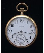 Antique Gold-Filled 1912 ELGIN Pocket Watch - 1 3/4 inches - FREE SHIPPING - £68.82 GBP