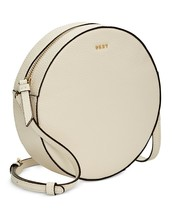 H94 Dkny Light Beige Cindy Pebble Leather Mini Circle Handbag - $96.59
